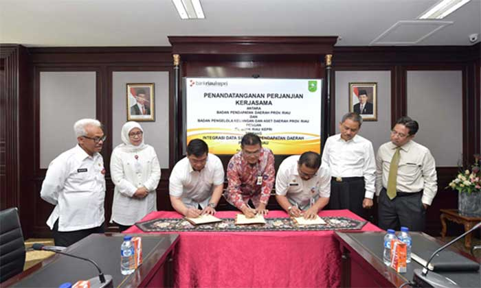 Pemprov Riau Percayakan Sepenuhnya Transaksi Non Tunai Kepada Bank Riau Kepri