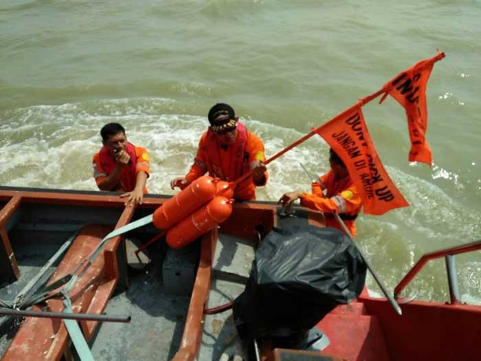 Basarnas Simulasi Penyelamatan Korban Kecelakaan Pesawat