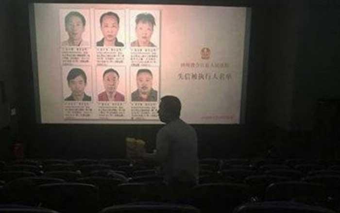 Di Cina Nama dan Wajah Pengutang Macet Ditayangkan di Bioskop