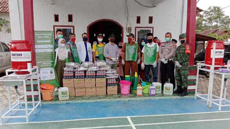 CCAI Bersama Tim Gugus Tugas Covid-19 Desa Sukanegara Tingkatkan Kewaspadaan Masyarakat