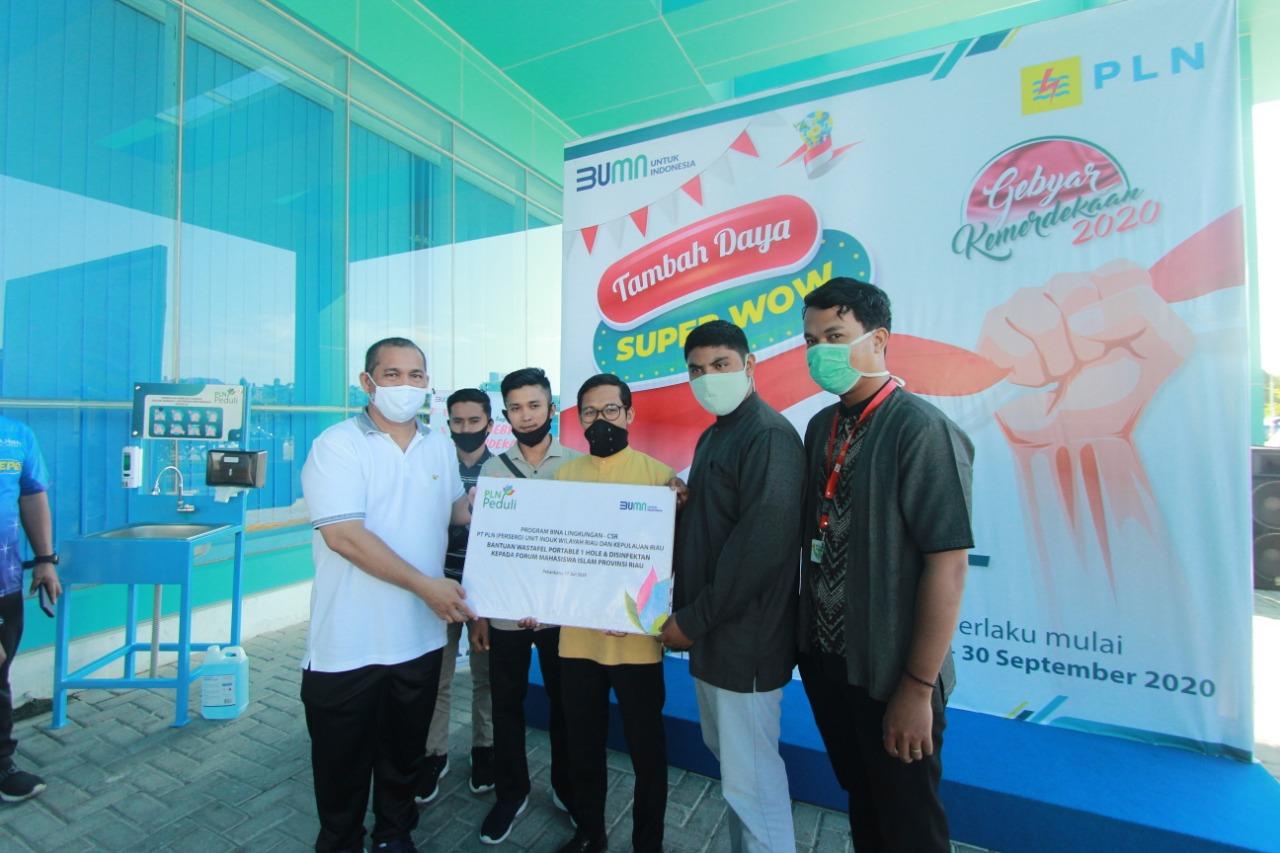 PLN Fasilitasi Cuci Tangan untuk Mahasiswa