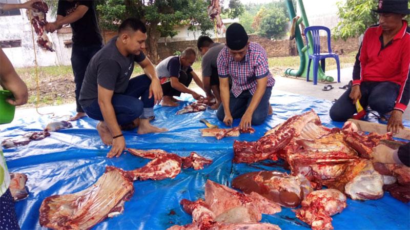BPJS TK Bagikan 250 Rantang Daging Qurban
