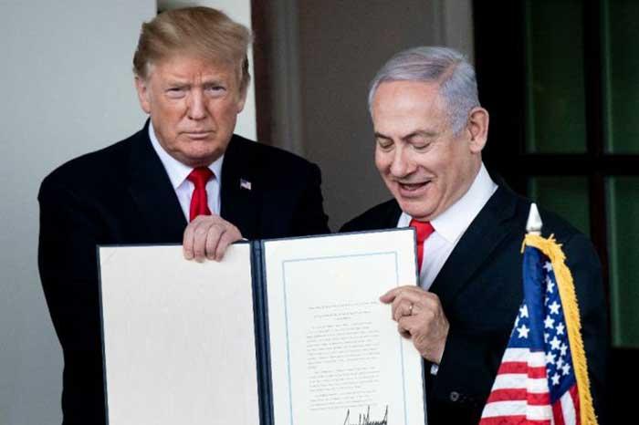 Presiden Trump Tandatangani Pengakuan Kedaulatan Israel Atas Golan