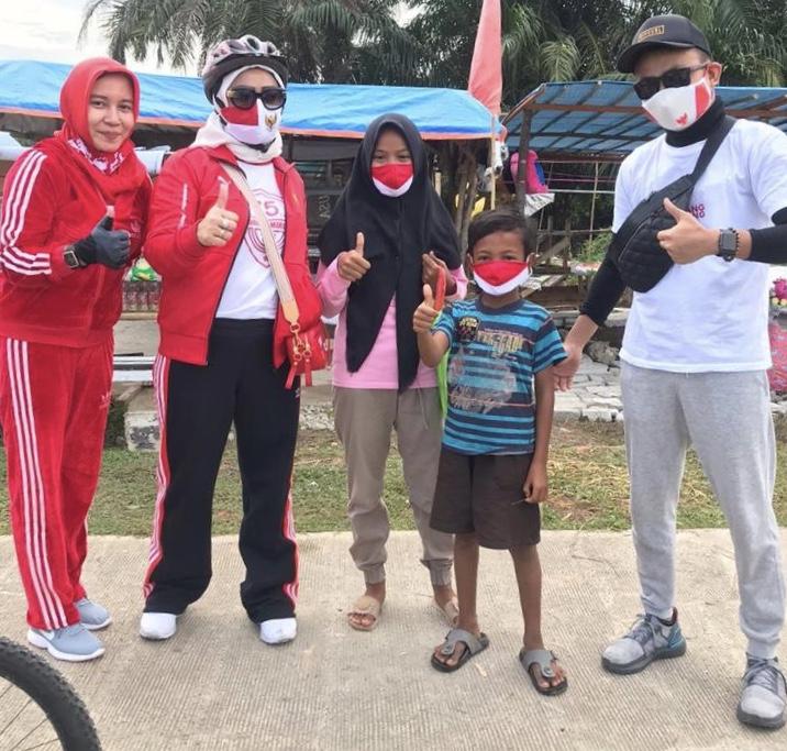 Gowes Sehat DPRD Pekanbaru Plus Kampanye Penggunaan Masker