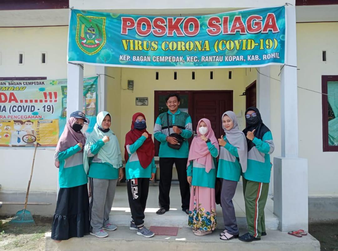 Mahasiswa KKN Hubbulwathan Gotong-royong dan Desinfeksi Fasilitas Umum
