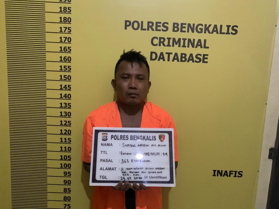 Warga Siak Ditangkap Polres Bengkalis