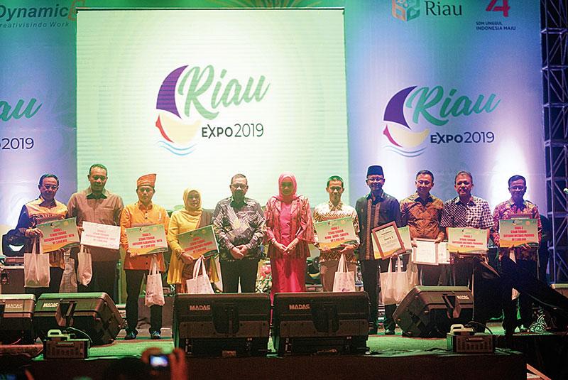 Usung Konsep Riau Hijau, Stan Dinas Kesehatan Riau Juara Tiga