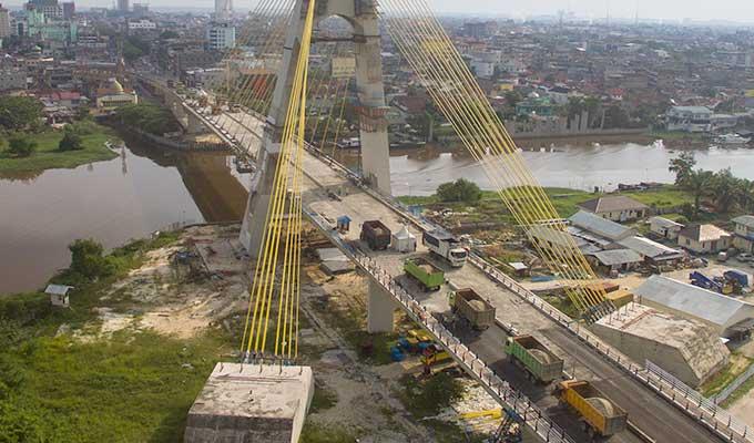 Jembatan Marhum Bukit Mulai Dibuka Senin Besok