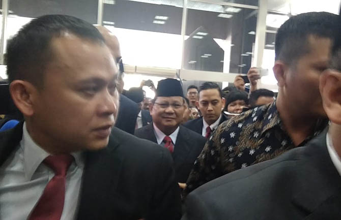 Prabowo dan Sandiaga Uno Hadiri Pelantikan Jokowi-Ma'ruf Amin