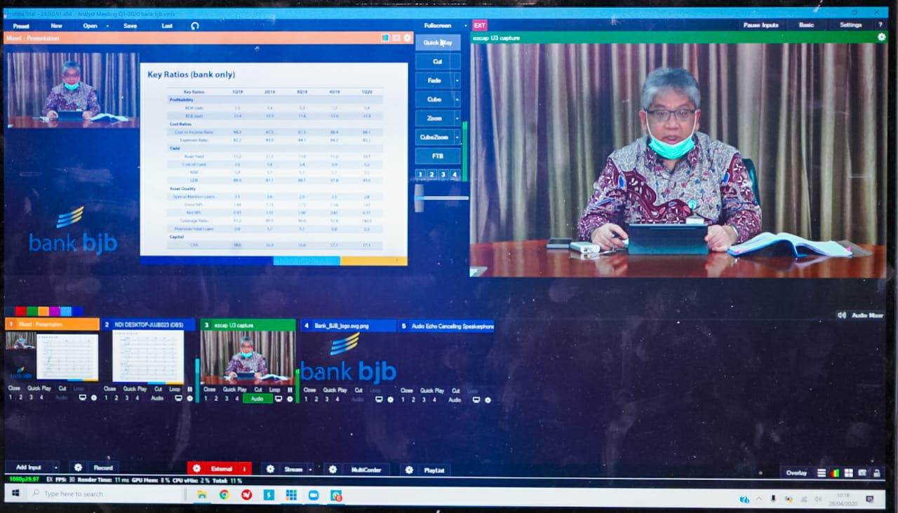 Triwulan Pertama, Bank bjb Raih Laba Bersih Rp418 Miliar