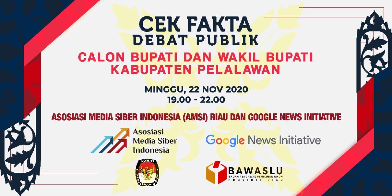 Pertama di Riau, AMSI Gelar Cek Fakta Debat Pilkada