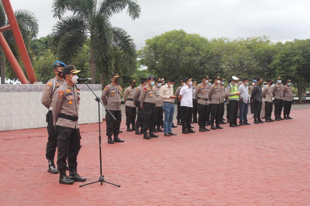 103 Personel Polres Bengkalis Amankan Pleno KPU