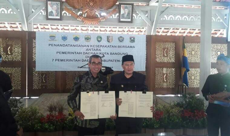 Bupati Kuansing MoU Aplikasi Smart City dengan Pemko Bandung