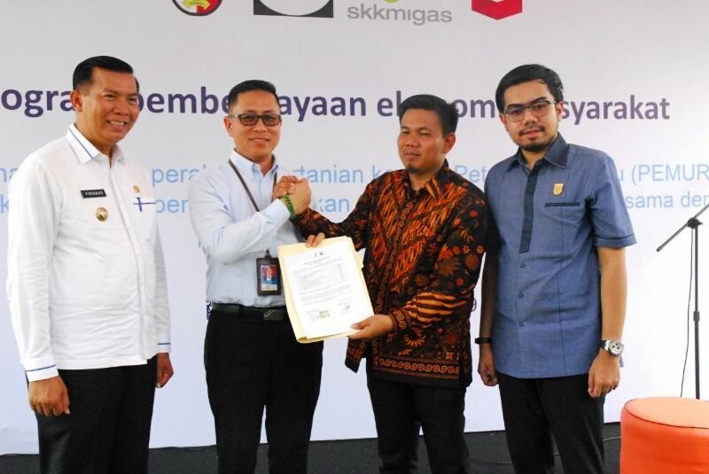 SKK Migas-PT CPI Dukung Petani Muda Riau