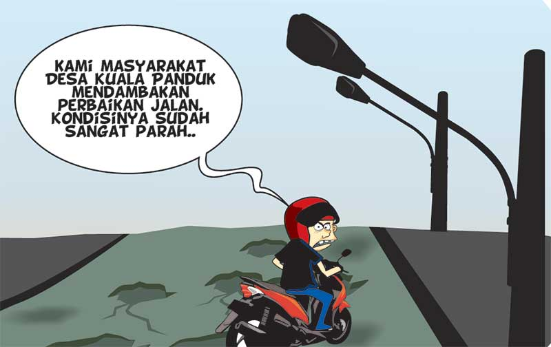 Masyarakat Desa Kuala Panduk Dambakan Perbaikan Jalan