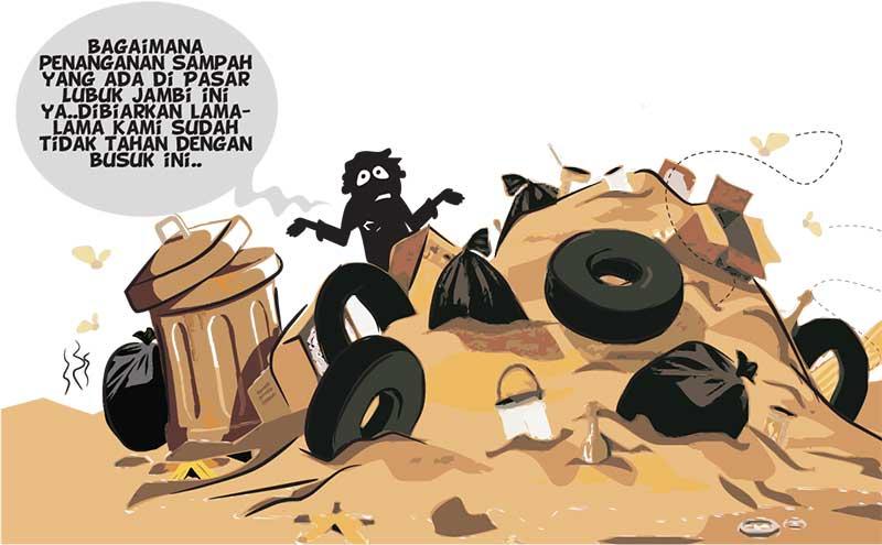 Pengelolaan Sampah di Pasar Lubuk Jambi Dikeluhkan