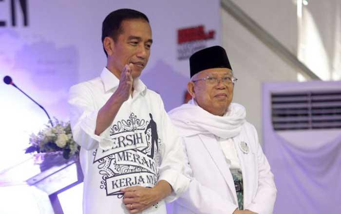 Jokowi Sampaikan Perolehan Suara Pasangan 01
