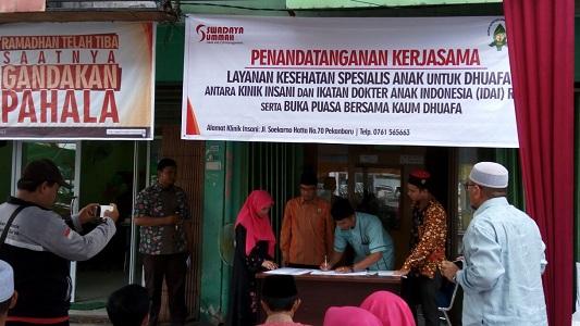 IDAI Riau : Klinik Insani dan Swadaya Ummah Resmi Buka Layanan Kesehatan