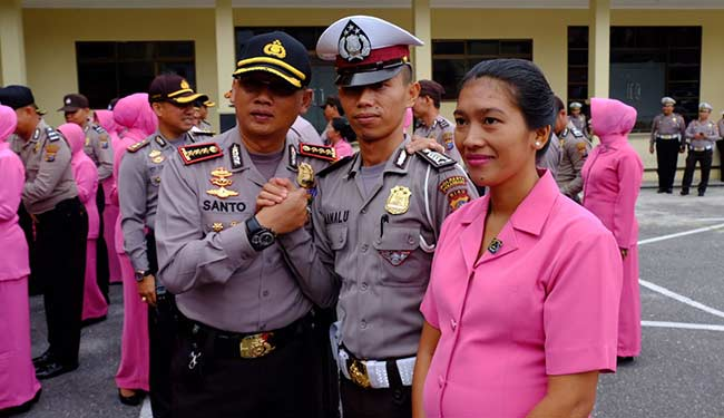 Puluhan Personel Polresta Naik Pangkat