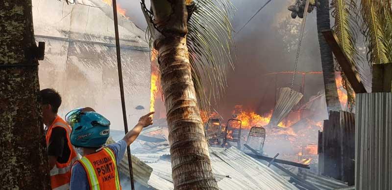 Asrama Polisi Tembilahan Hulu Terbakar