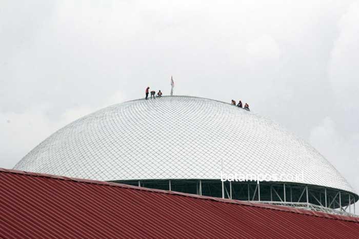 Masjid Ini Punya Bentang Kubah Terbesar di Indonesia
