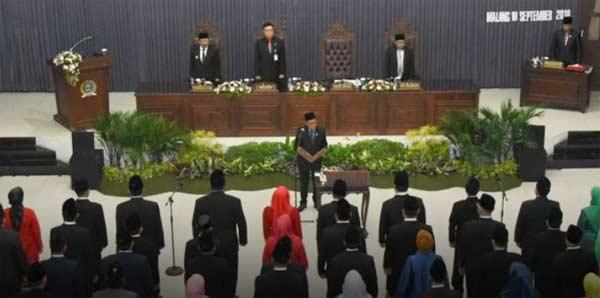 40 Anggota DPRD Kota Malang Hasil PAW Dilantik