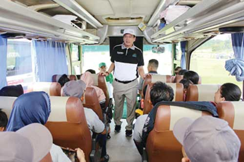 Mudik Gratis PTPN V ke Medan