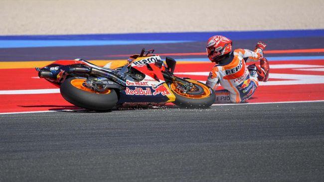 Kecelakaan, Marquez Kesakitan di Pinggul dan Kaki