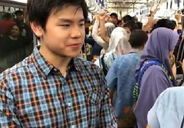 Nicholas Salut pada Ahok saat Jajal MRT