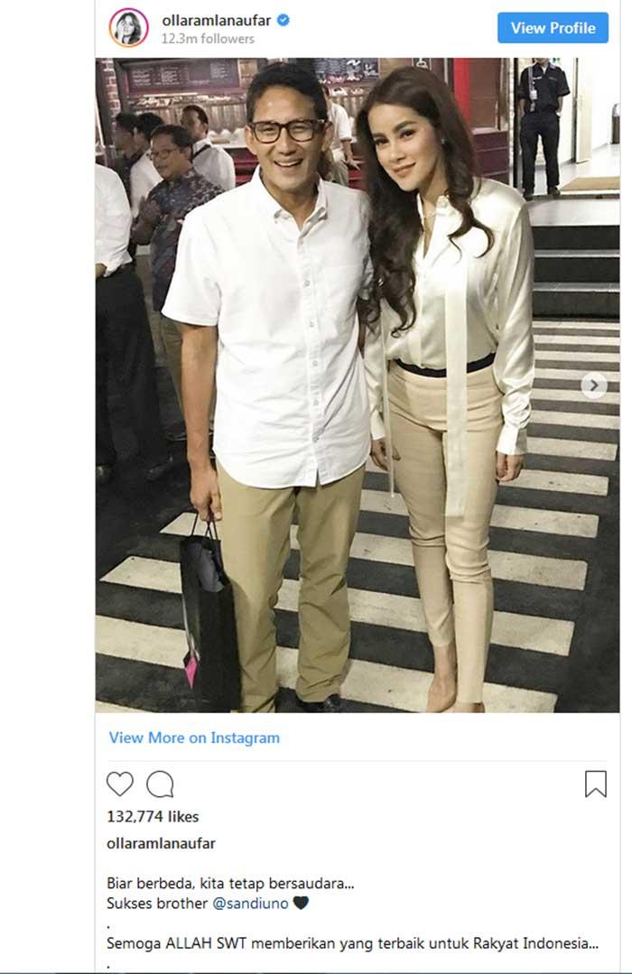 Brother @sandiuno, Olla Ramlan Bilang Berbeda tapi Tetap Bersaudara