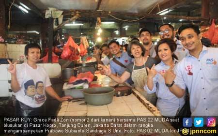 Komunitas Muda Prabowo - Sandi Blusukan di Pasar demi Dorong Perubahan