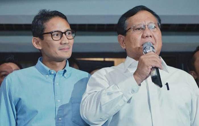 Sikap Prabowo dan Sandiaga Uno Belum Bisa Dipastikan