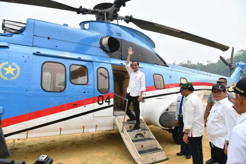 Tinjau Lahan Terbakar di Pelalawan, Presiden Jokowi Sebut Terorganisasi