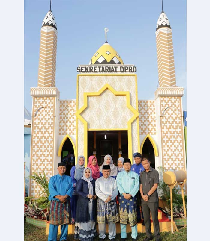 Meriahkan MTQ Kabupaten, Stan Sekretariat DPRD Siak Gelar Lomba