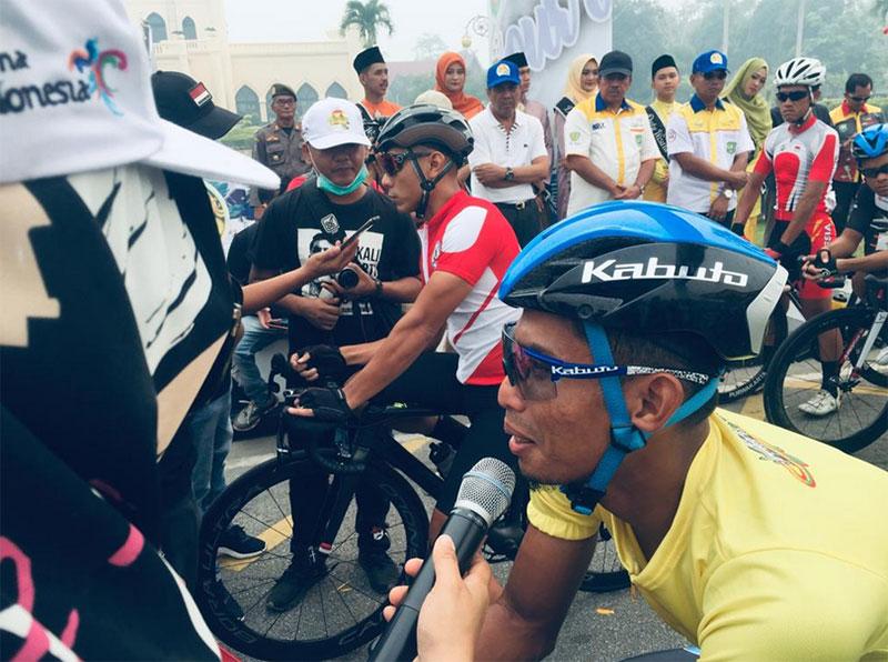 Akhirnya Atlet Tour de Siak  Menyerah dengan Jerebu