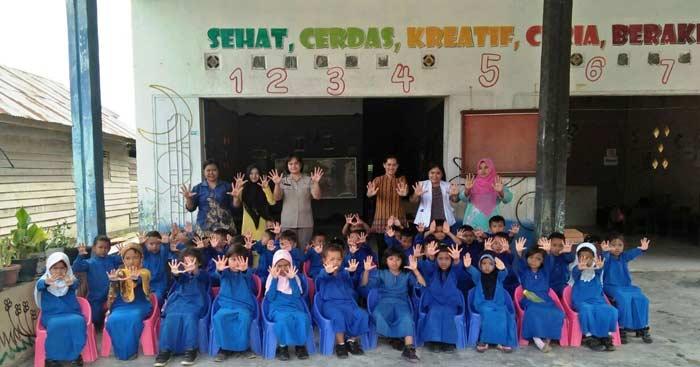 Puluhan Anak TK Paud Pelita Kasih Ikuti Bulan Bakti Kesehatan