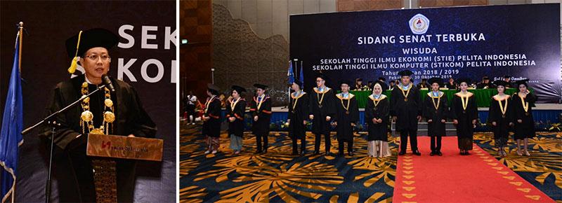 Perguruan Tinggi Pelita Indonesia Lepas 400 Lulusan