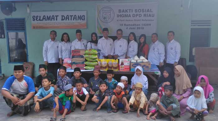 IHGMA DPD Riau Gelar Bakti Sosial