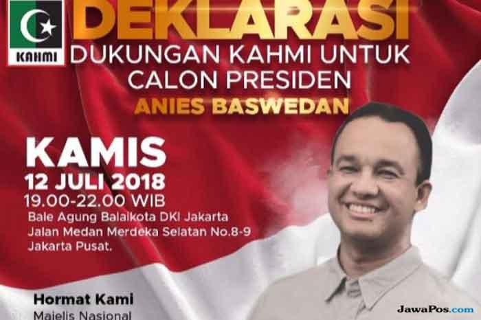 Perhatian! Poster Deklarasi Anies Capres dari KAHMI Ternyata Hoaks