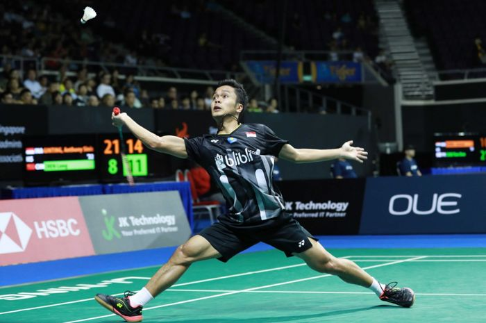 Bertarung Habis-habisan, Ginting Gagal Juara di Singapura Open