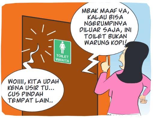 Ngerumpi di Toilet