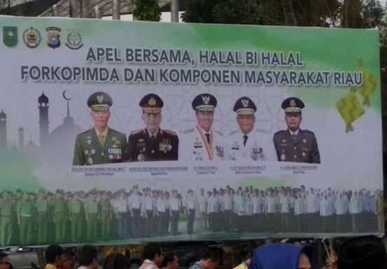 Wow, Foto Ketua DPRD Riau Tak Terpajang Dibarisan Baliho Forkopimda Riau