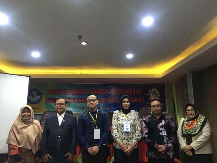 Balai Bahasa Riau Beri Penyuluhan tentang Media Luar Ruang