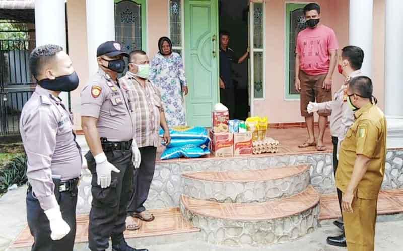 Polres Kuansing Bantu Keluarga PDP yang Meninggal