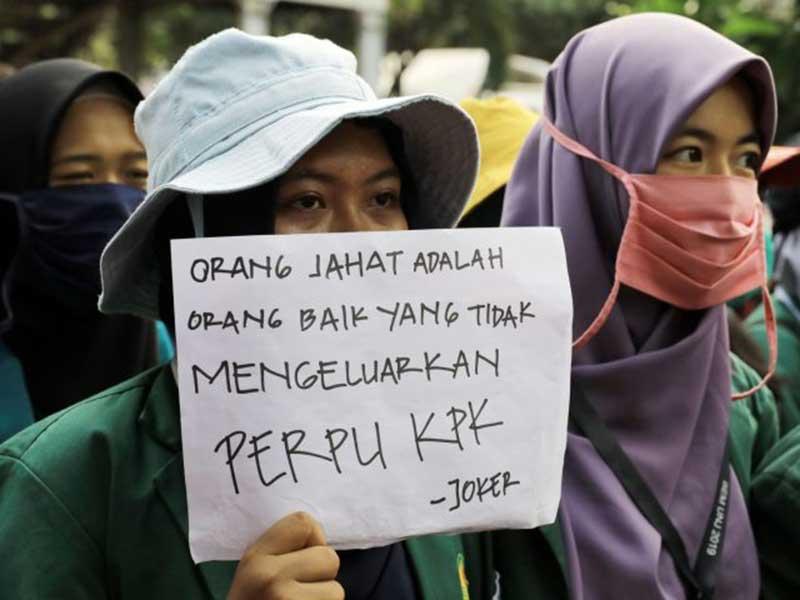 BEM SI Kecewa Jokowi Tak Respons Keinginan Publik Terbitkan Perppu KPK