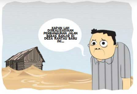 Realisasikan Pembangunan Jalan Bebas Banjir