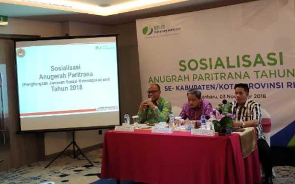 BPJS Ketenagakerjaan Wilayah Sumbarriau Sosialisasikan Anugrah Paritrana