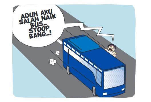 Salah Masuk Bus
