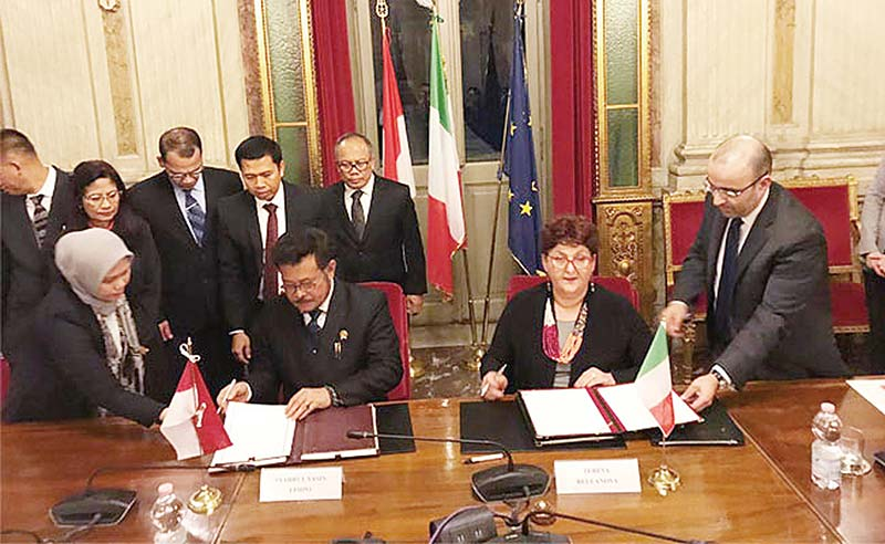 Indonesia dan Italia Bahas Ekspor Sawit