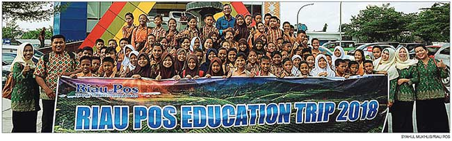 Rombongan SDN 179 Pekanbaru Bangga Ikuti Riau Pos Education Trip